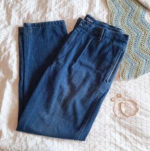 VINTAGE 90s hi rise 100% cotton pleated mom jeans